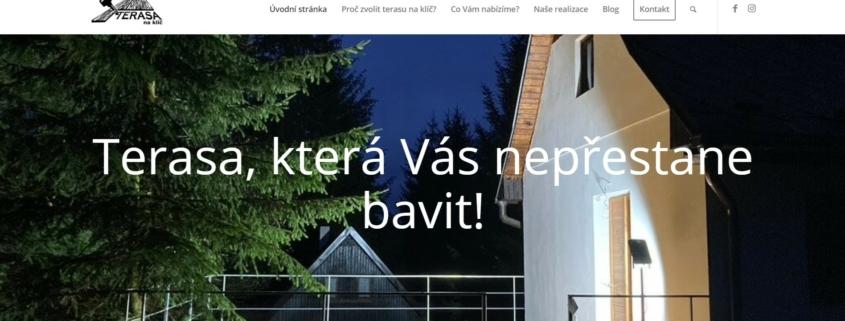 Terasa na klíč nové webové stránky
